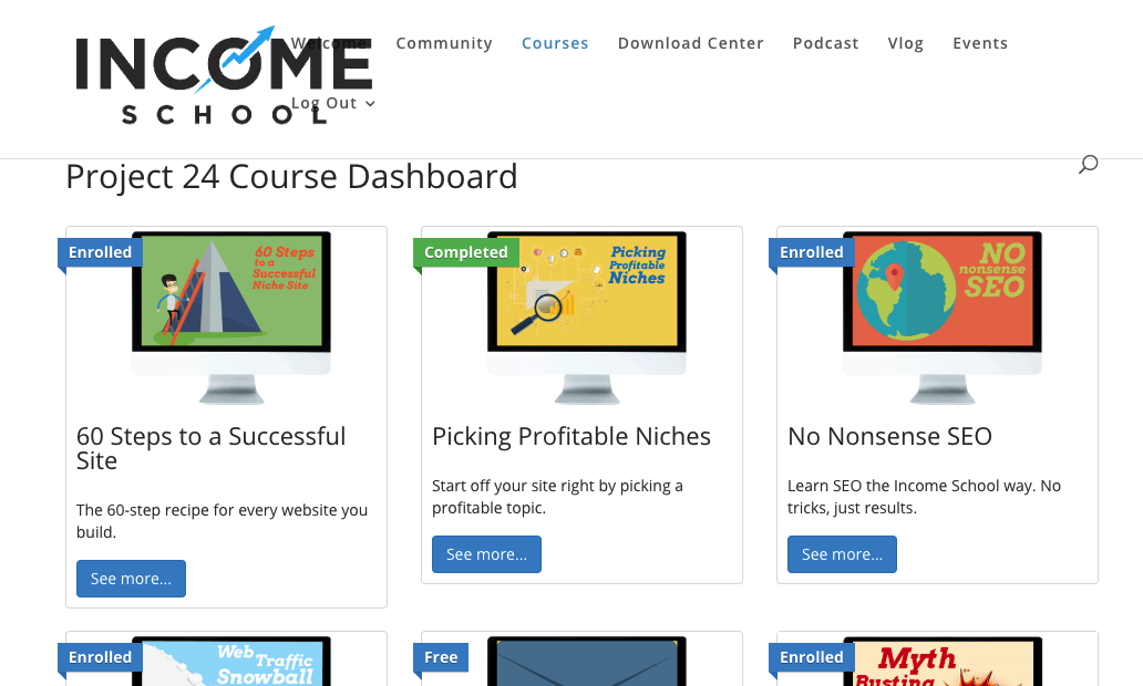 Project 24 Income School Course Dashboard Image