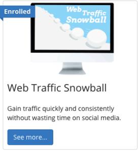 Web Traffic Snowball lesson