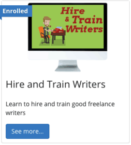 hire and train writers course