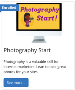 photography course included