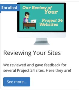 review of project 24 sites