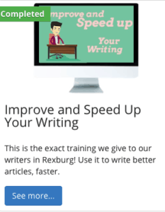 Improve and speedup writing for content creation