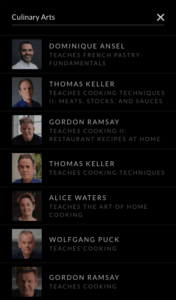 culinary classes on masterclass