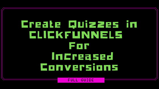 quiz in clickfunnels
